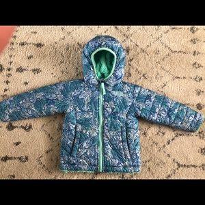North face 2T reversible coat